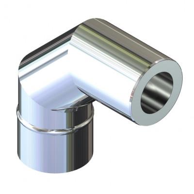 Отвод 90° для дымохода ø 160/220 н/н 1 мм