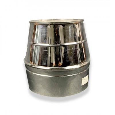 Конус димохідний ø 130/200 нерж / нерж 0,6 мм