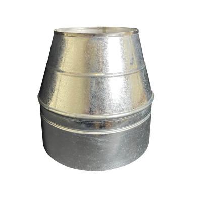 Конус дымоходный ø 220/280 нерж/оцинк 0,6 мм