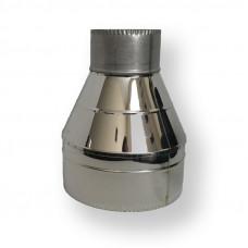 Обратный конус для дымохода ø 100/160 нерж/нерж 0,6 мм