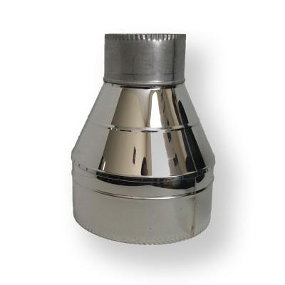 Обратный конус для дымохода ø 140/200 нерж/нерж 1 мм