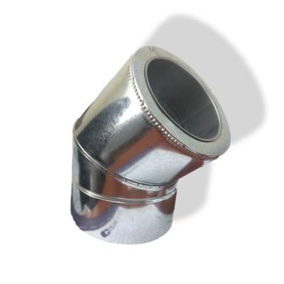 Отвод 45° для дымохода ø 350/420 н/оц 1 мм