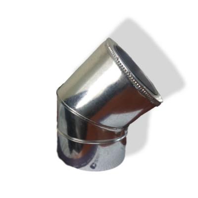 Коліно 45 ° для димоходу ø 110/180 н / оц 1 мм