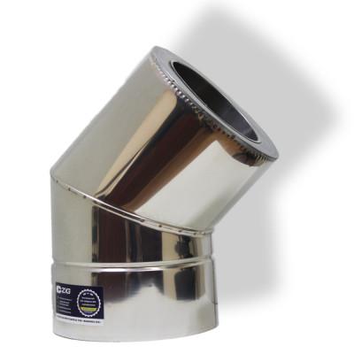 Коліно 45 ° для димоходу ø 350/420 н / н 0,8 мм