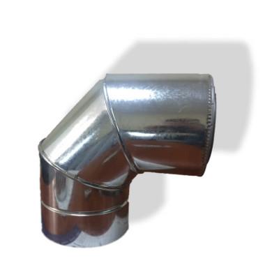 Отвод 90° для дымохода ø 140/200 н/оц 0,6 мм