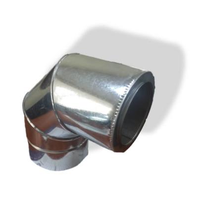 Коліно 90 ° для димоходу ø 130/200 н / оц 1 мм