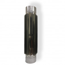 Радиатор для дымохода 0,5 м D 100 мм толщина 0,8 мм
