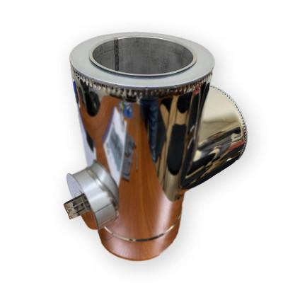 Тройник с ревизией для дымохода 200/260 н/оц 1 мм