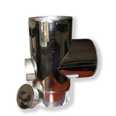 Трійник з ревізією ø 300/360 н / оц 0,6 мм