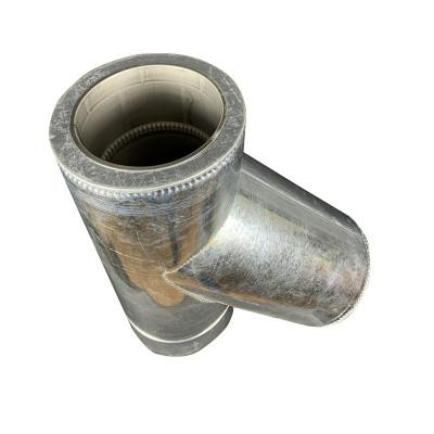 Трійник 45 ° для димоходу ø 180/250 н / оц 1 мм