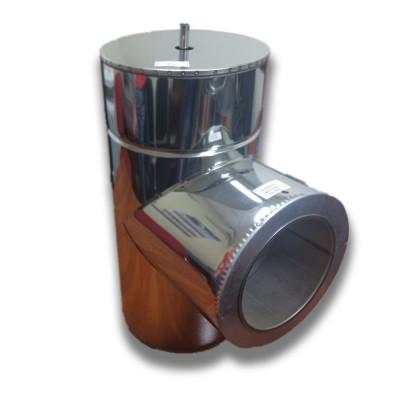 Трійник 87 ° для димоходу ø 220/280 н / н 1 мм