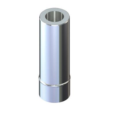 Труба двустенная 0,3 м для дымохода 110/160 н/оц 0,6 мм