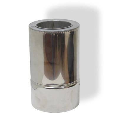 Труба димохідна 0,3 м ø 300/360 н / н 0,8 мм