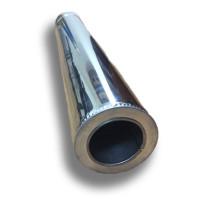 Труба дымоходная 1 м ø 220/280 н/н 0,6 мм