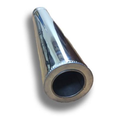 Труба димохідна 1 м ø 200/260 н / н 0,8 мм