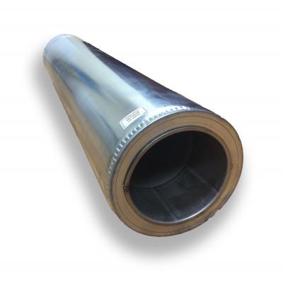 Труба димохідна 1 м ø 150/220 н / оц 1 мм
