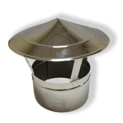 Грибок для дымохода нержавейка D-180 мм толщина 1 мм