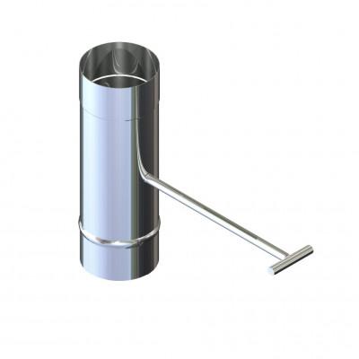 Регулятор тяги для дымохода нержавейка D-110 мм толщина 1 мм