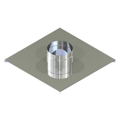 Окончание двустенное для дымохода 150/220 нерж/нерж 0,6 мм