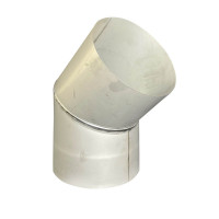 Коліно 45 ° для димоходу D-400 мм товщина 0,6 мм