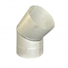 Отвод 45° для дымохода D-100 мм толщина 0,6 мм