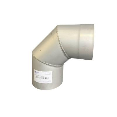Коліно 90 ° для димоходу D-110 мм товщина 0,6 мм