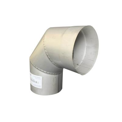 Коліно 90 ° для димоходу D-250 мм товщина 0,8 мм