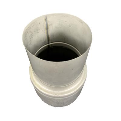 Перехід для димоходу нержавіюча сталь D-100 мм товщина 0,8 мм