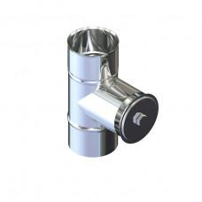 Ревизия дымоходная нержавейка D-100 мм толщина 0,6 мм