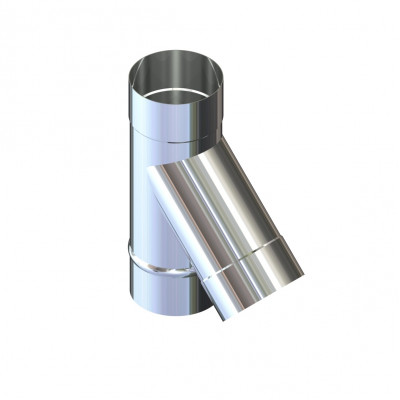 Трійник 45 ° для димоходу D-140 мм товщина 0,6 мм