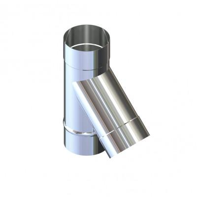 Тройник 45° для дымохода D-230 мм толщина 1 мм