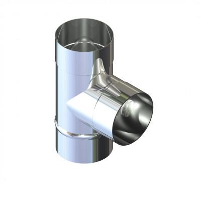 Тройник 87° для дымохода D-400 мм толщина 1 мм