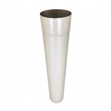 Труба для дымохода L-1 м D-100 мм толщина 0,6 мм