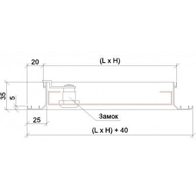 Люк ревізійній 200х205 мм