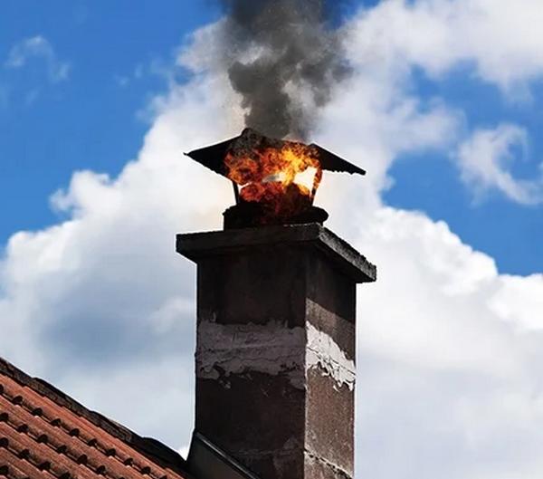 Возгорание сажи в дымоходе