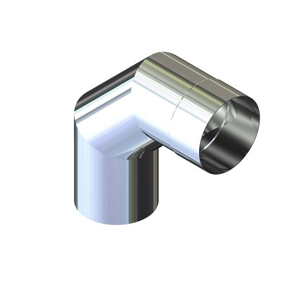 Отвод 90° для дымохода D-110 мм толщина 0,6 мм