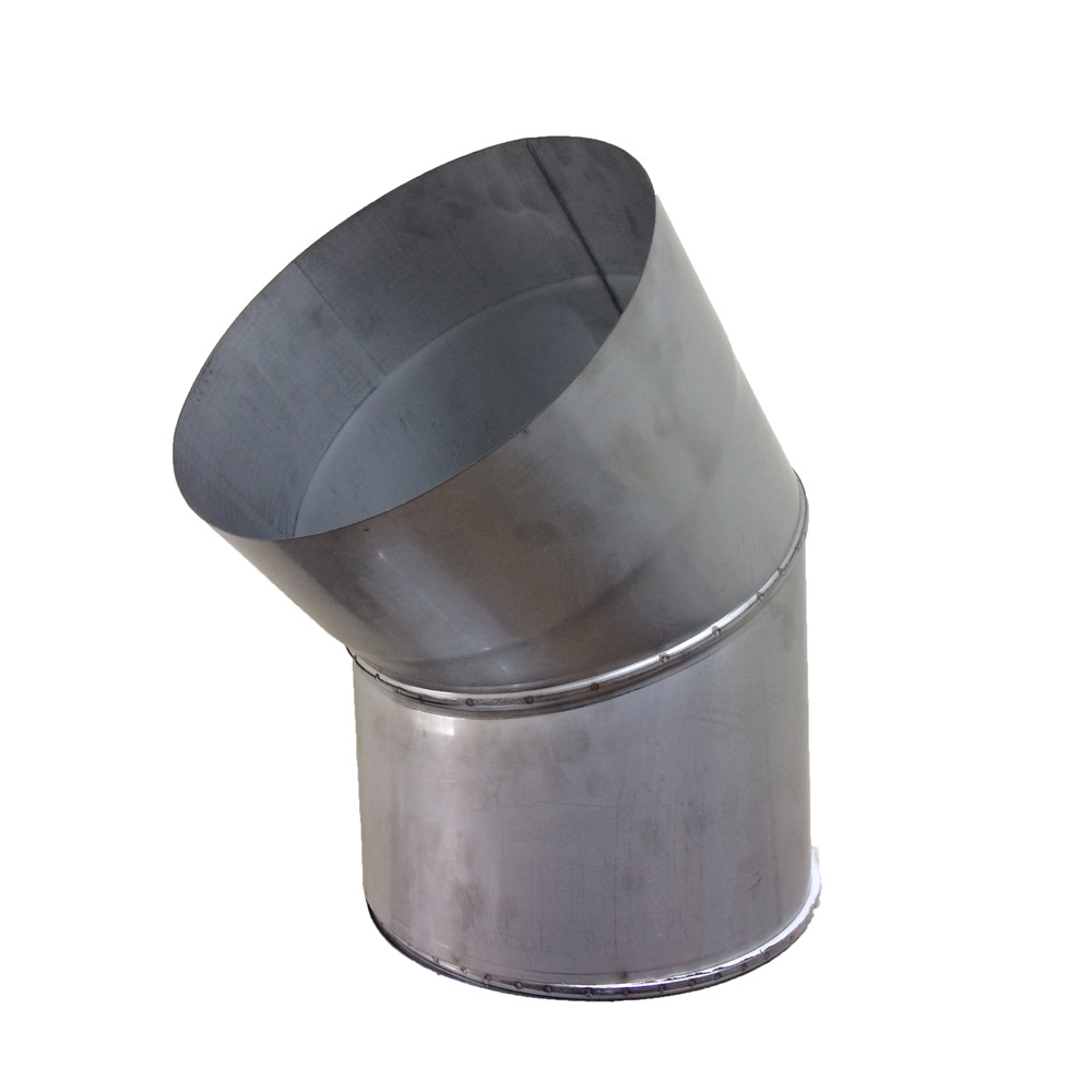 Отвод 45° для дымохода D-180 мм толщина 1 мм